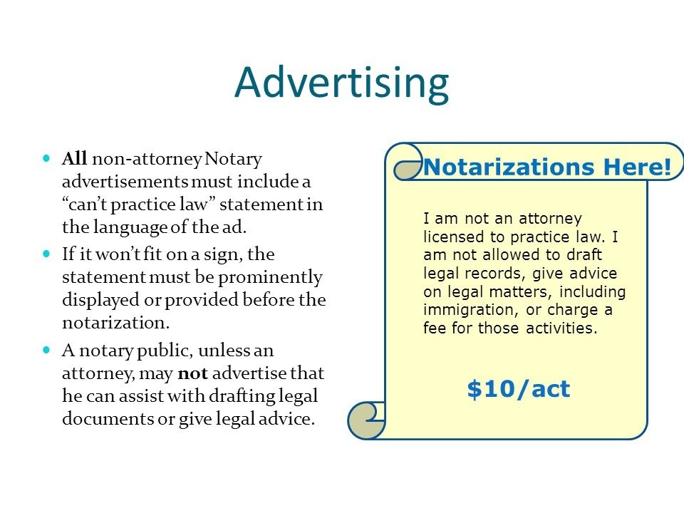 a notary who is not an attorney may-0