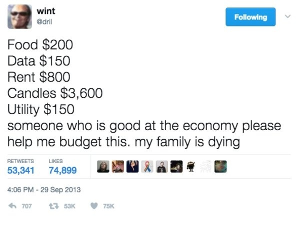 dril someone who is good at the economy-0