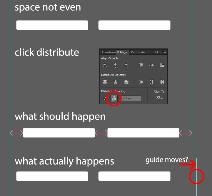 how to evenly space objects in illustrator-0