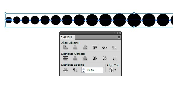 how to evenly space objects in illustrator-1