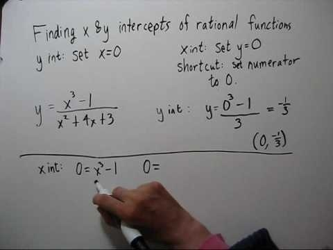 how to find x intercept of a rational function-0