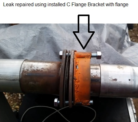 how to fix an exhaust leak on flange-0
