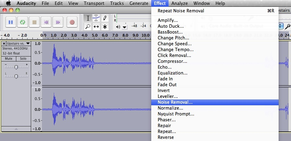 how to get rid of echo in audacity-2