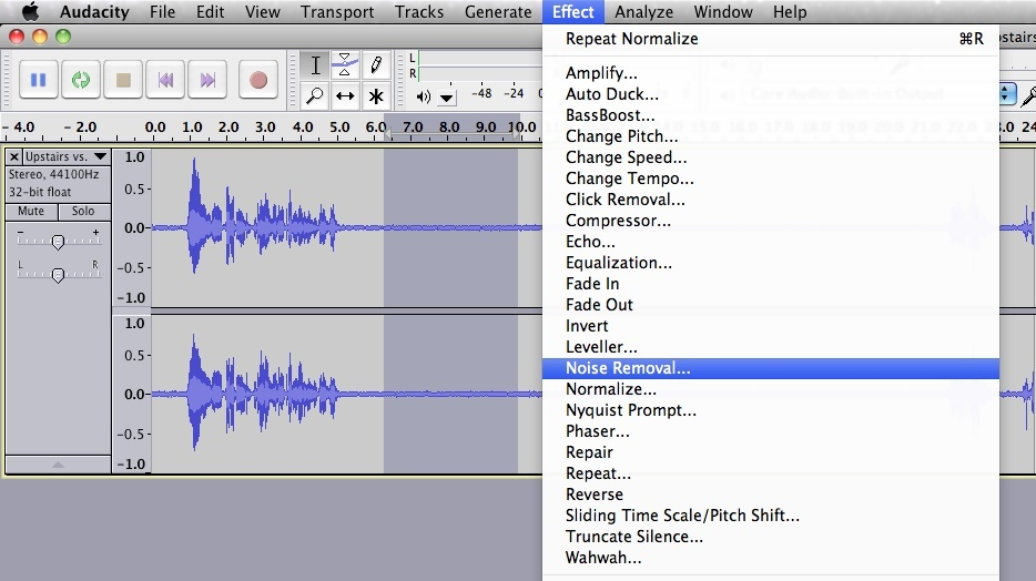 how to get rid of echo in audacity-3