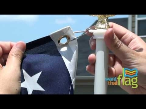 how to hang a flag on a pole with grommets-0