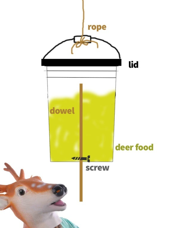 how to make a deer feeder out of a 5 gallon bucket-1