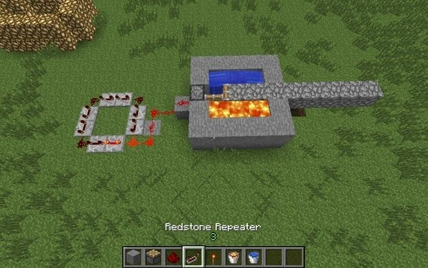 how to make an automatic cobblestone generator-0