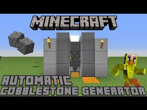 how to make an automatic cobblestone generator-3