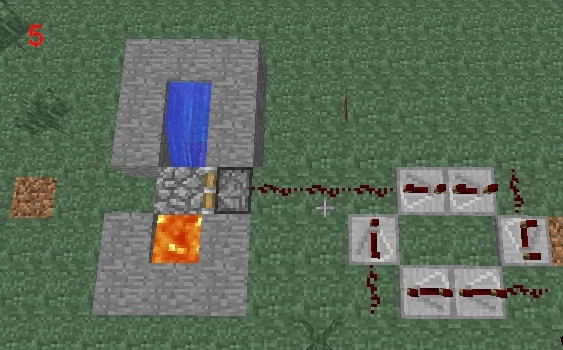how to make an automatic cobblestone generator-4