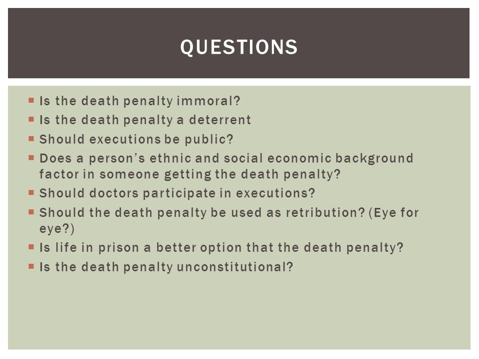 questions to ask someone who is for the death penalty-0