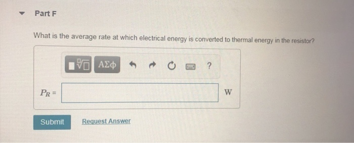 what is the average rate at which electrical energy is converted to thermal energy in the resistor?-2