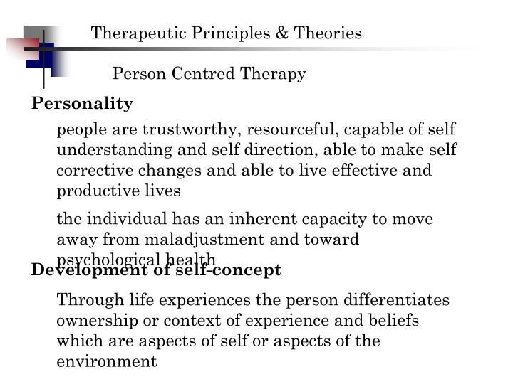 what is the essential quality of a therapist who is conducting person-centered therapy?-1