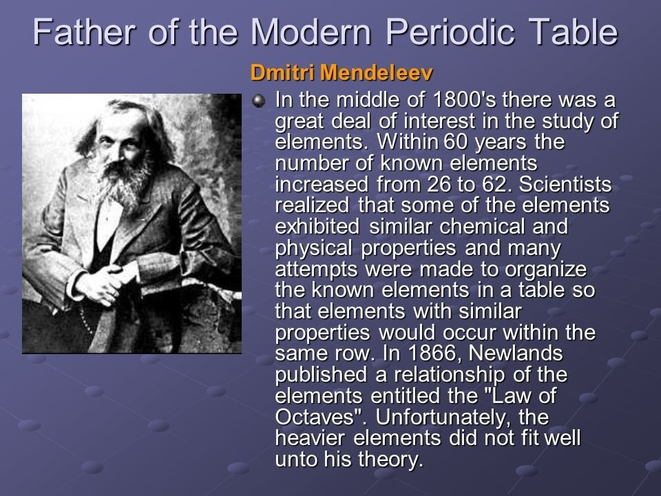 who is the father of the modern periodic table-1
