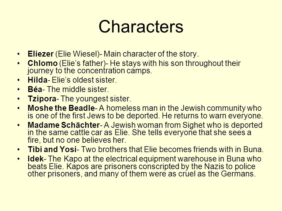 who is the main character in night by elie wiesel-2