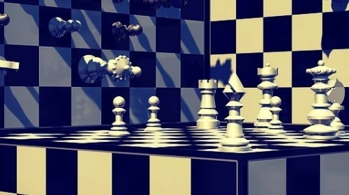 who is the opponent in the narrator's imaginary chess game?-0