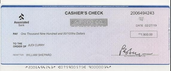who is the remitter on a cashiers check-2