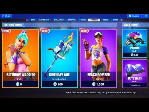 live fortnite item shop-3