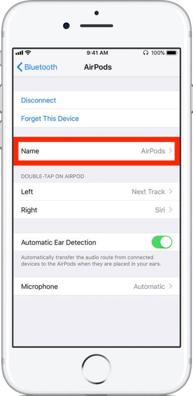 how to change name of iphone-6