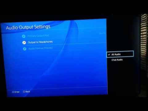 ps4 sound through headset and tv-0