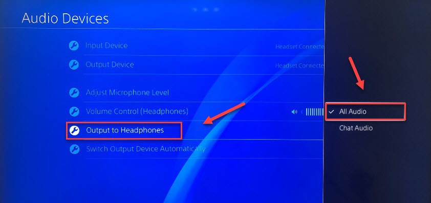 ps4 sound through headset and tv-5
