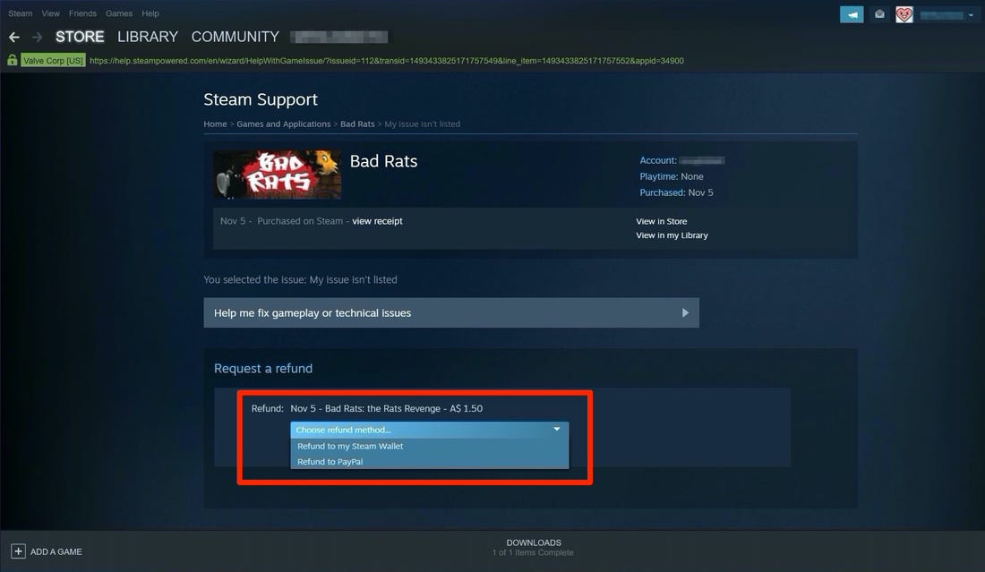 request a steam refund-0