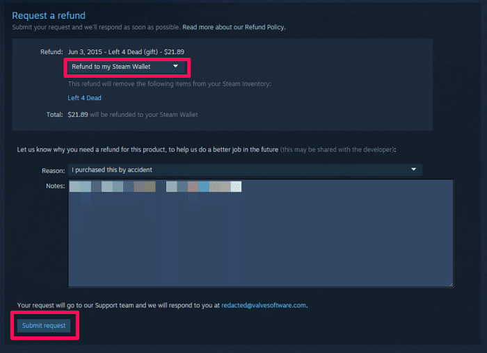 request a steam refund-8