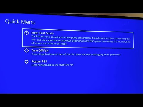 how to restart ps4-5