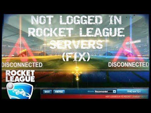not logged into rocket league servers-1