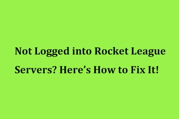 not logged into rocket league servers-2