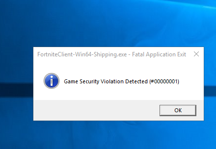 fortnite game security violation detected lightingservice.exe-5
