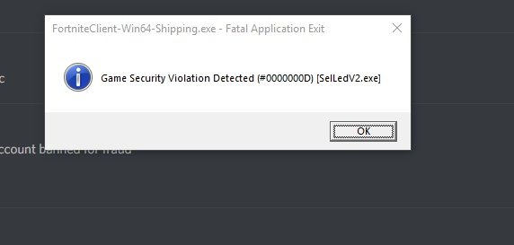 fortnite game security violation detected lightingservice.exe-9