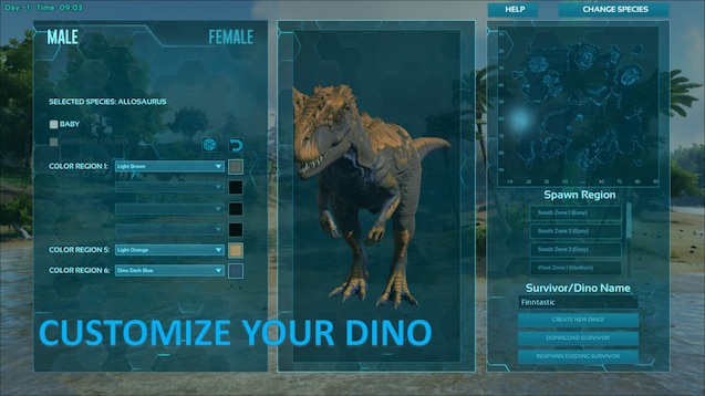ark play as dino server-0